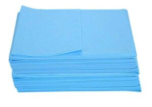 KUDIZE Disposable Non-Woven Bed Sheet for Hospital, Hotel, Spa and Beauty Parlor Blue, 31 x 80 Inch78 x 200 cm Pack of 25