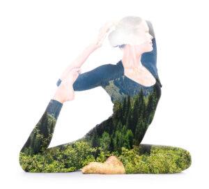 Yoga Double Exposure by Victor Tondee, India Free Stuff